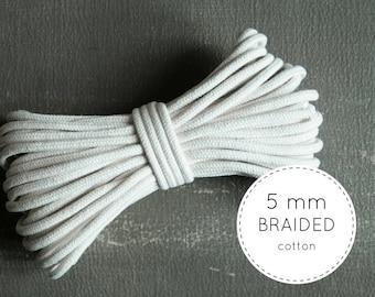 Macrame Cord (5mm) 20 meters - 5mm Macrame Cord - Macrame Cotton Cord - Braided Cotton Cord - Cotton Cord - Cotton Rope - Macrame Supplies