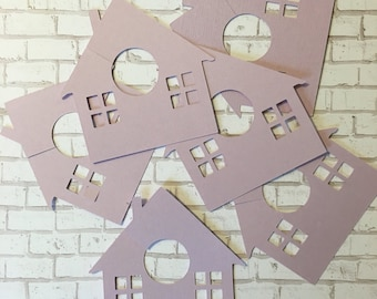 Wine Glass Markers {Houses}