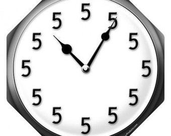 It's 5 O'Clock Somewhere Clock Metal Bar Sign