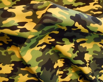 Limegreen Camo cotton fabric by the yard SALE