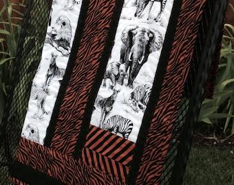 Modern Jungle Safari Quilt