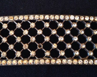 Beautiful element of 30s rhinestones belt buckle