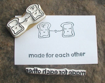 Made for each other Valentines stamp set- peanut butter and jelly forever