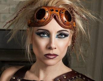 Leather Aviator Goggles