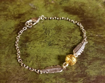 Flying golden ball Link Bracelet