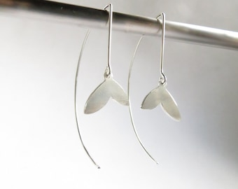 Sterling Silver Petal Drop Earrings. Silver drop earrings. Petal drop earrings.