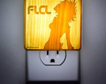 "FLCL fooly cooly Haruko - Lantern Night Light ""Single Plate"""