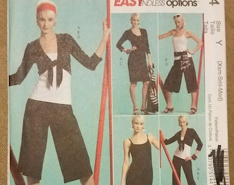 McCall's 5144 - Misses' Jacket, Top, Dress, Gaucho, and Pants Pattern - Sizes Extra Small, Small, Medium - Ladies - Women's - Easy