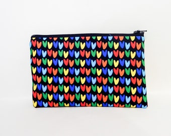 Make Up Bag/ Pencil Case/ Mothers Day Gift/ Gift for Mom/ Birthday Gift/ Teacher Gift/ Best Friend Gift/ Heart Pouch/ Gift for Women/ Gift