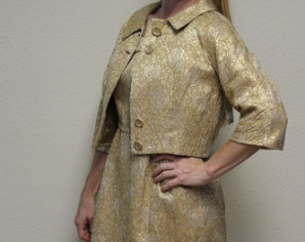 1960's Vintage Suit, Women's Vintage Dress, Wiggle Dress - Shift Dress - 2 Piece Suit - Dress with Jacket - Handmade - Shift Dress
