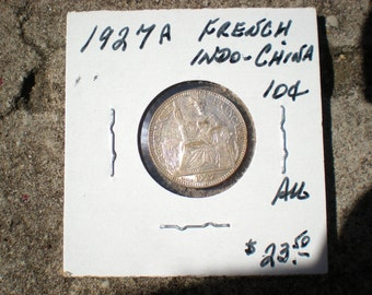 1927A French Indochina Indochine .10  Coin REDUCED