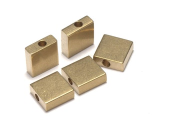 Raw Brass square for stamping 8x3 mm 1873R