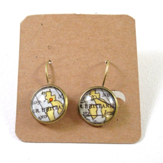 World map earrings - North europe variatons