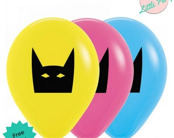 6 x Super Hero Balloons Mask Birthday Party or 10pk available
