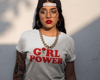 Girl Power Rose TShirt Feminist Slogan Grl Pwr Spice Tee Fashion Blogger Feminism Insta Tees Tumblr Girls
