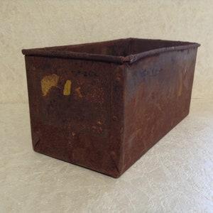 Vintage Rusty Crusty Metal Box, Shabby Chippy Planter Box, Metal Storage Basket, Old Industrial Storage Box, Farmhouse, Cottage Chic Decor