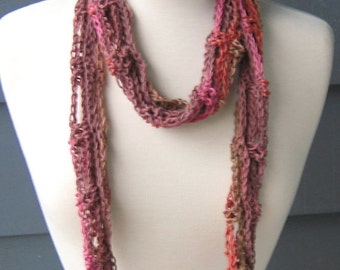 PATTERN S066 / Crochet Pattern / Ty-Dy Cotton Scarf ... worsted 100 yards