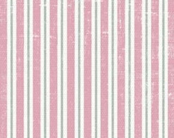 1/2 yd Shabbylicious Pink Grey Pin Stripe by FabScraps C60 02