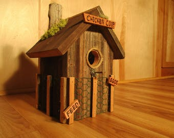 Chicken Coop Rustic Birdhouse