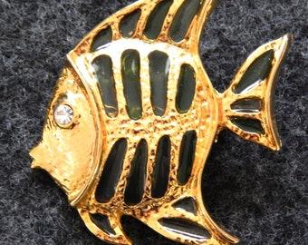 Vintage Tropical Fish Brooch