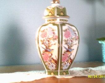 Japanese Oriental Garden Ginger Jar