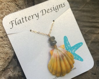 Hawaiian Sunrise Shell Necklace