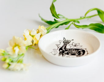 Llama Handmade Illustrated Ceramic  Bowl
