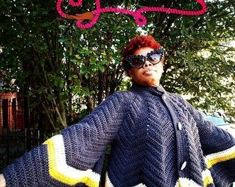 Crochet Cape Sleeve Jacket