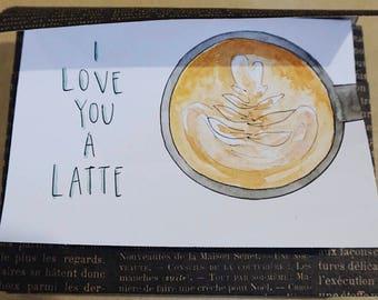 I Love You a Latte Stationery Set