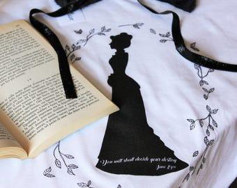 T-shirt Jane Eyre,  book Charlotte Bronte, Victorian era, literary t-shirt,silhouette