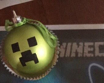 Minecraft Creeper inspired ornament
