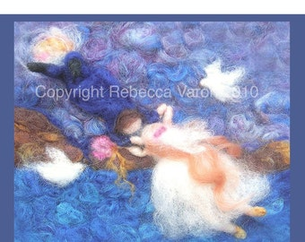 Printed Note Card - The Wedding Dance-image from wool painting