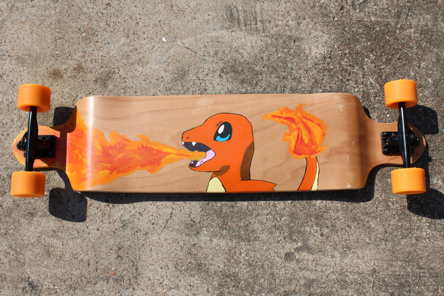 Custom Pokemon Go Longboards Made to Order and Complete