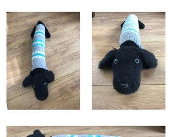 PDF Instant Download Crochet Dog Draught Excluder