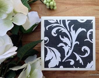 Coaster Set - Table Coasters - Black and White Coasters - Coaster - Tile Coaster - Coasters for Drinks - Coasters Tile - Home Decor
