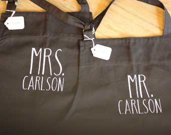 Mr. & Mrs. Apron Set