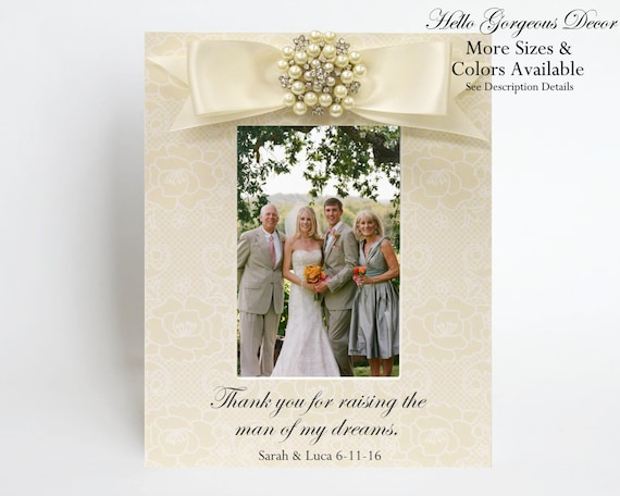 Parents Groom Frame Gift Mother of the Groom Picture Frame