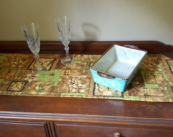 Hummingbird and Butterfly Table Runner