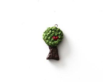 Tree of Love Clay Charm