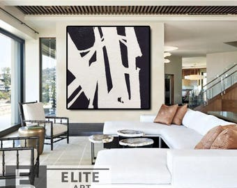 Large Abstract Contemporary, Painting Abstract, Acrylic, Abstract wall art, Abstract Painting, Black and White Art, Wall Decor, Abstract Art