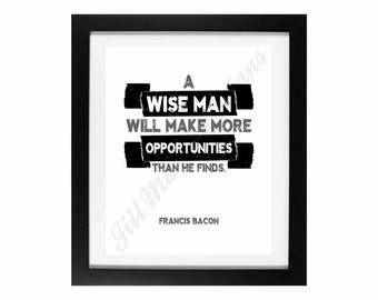 Francis Bacon: Wise Man | Workplace Wisdom Series - Digital Printable - Instant Download
