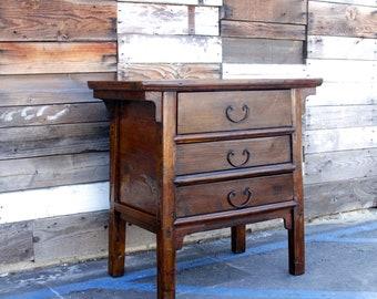 Asian Lacquered Altar Dresser, Antique Dresser, Chinese Dresser,Elm Carved Dresser,Chinese Furniture,Altar table,Asian Dresser, Carved Chest