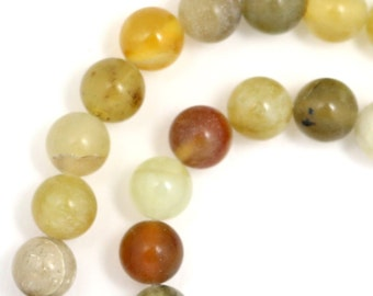 """Flower """"Jade"""" Serpentine Beads - 6mm Round"""