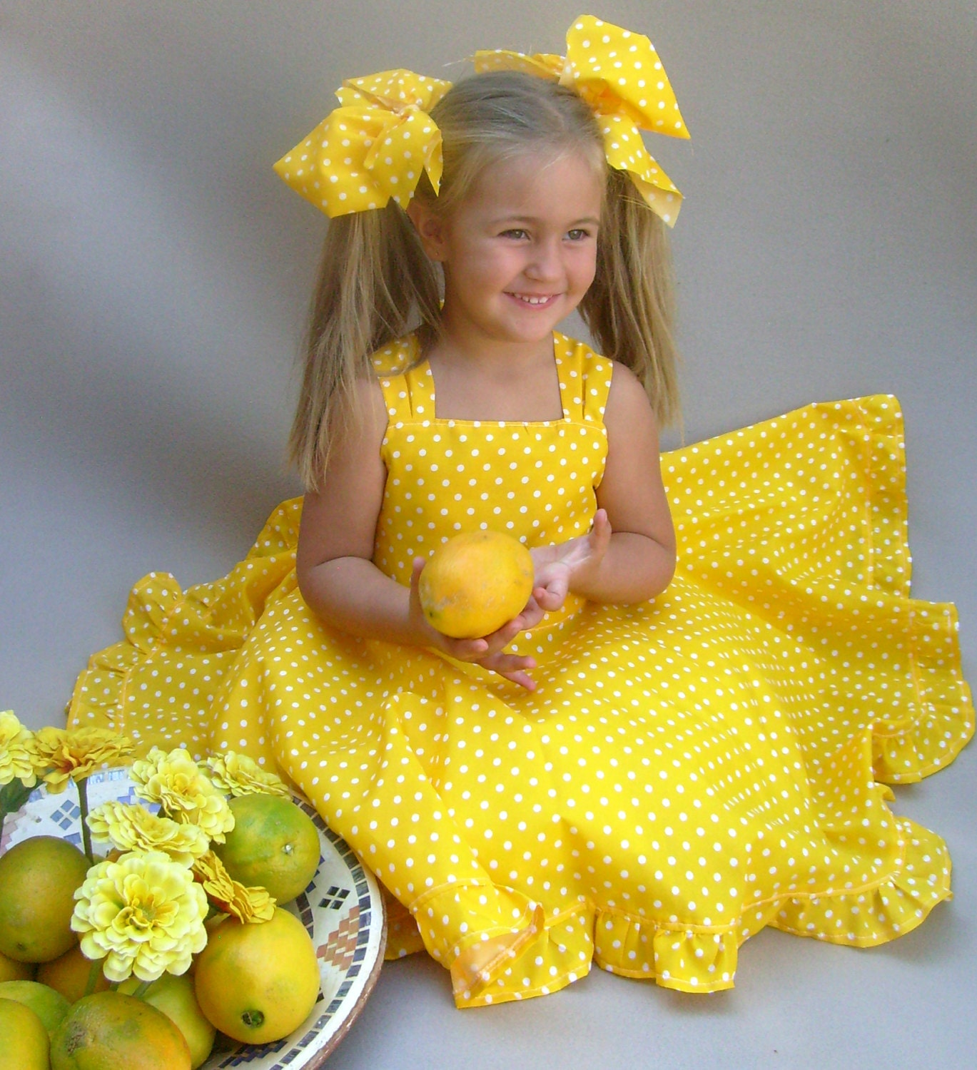Yellow birthday dress toddler