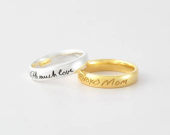 Handwriting ring Etsy