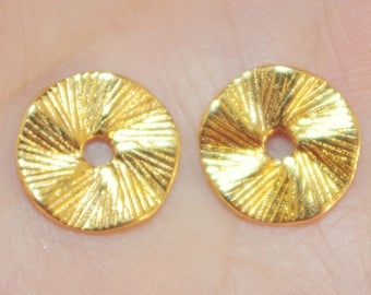 Vintage 14k Gold Filled Diamond Cut Gold Jackets For Earrings  Use With Any Studs..Useful For Split Earlobe