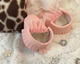 Pink Moccasins Newborn