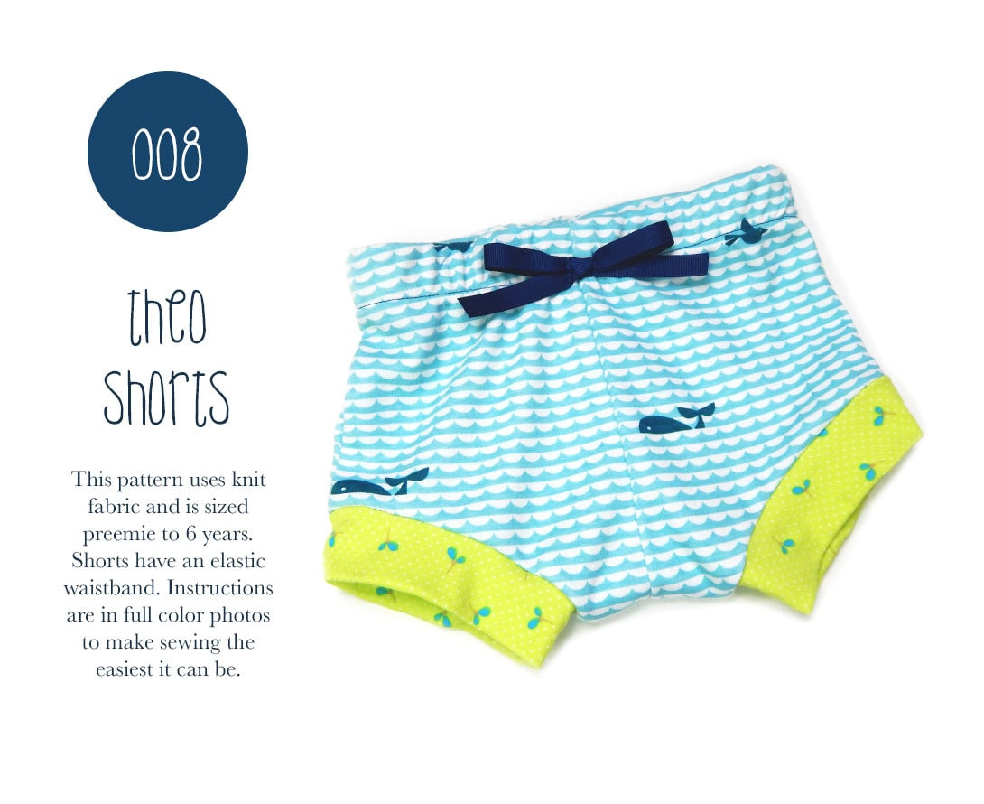 008 theo shorts pdf sewing pattern baby boy girl kid knit zoom jeuxipadfo Images