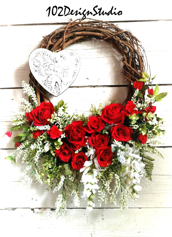 Valentines Wreathvalentine Wreathgift For Herlove Wreathheart