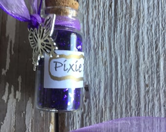 Affordable Purple Pixie Dust Necklace with Butterfly Charm--fairy party favors--pixie dust--pixie dust favors--tinkerbell party favors